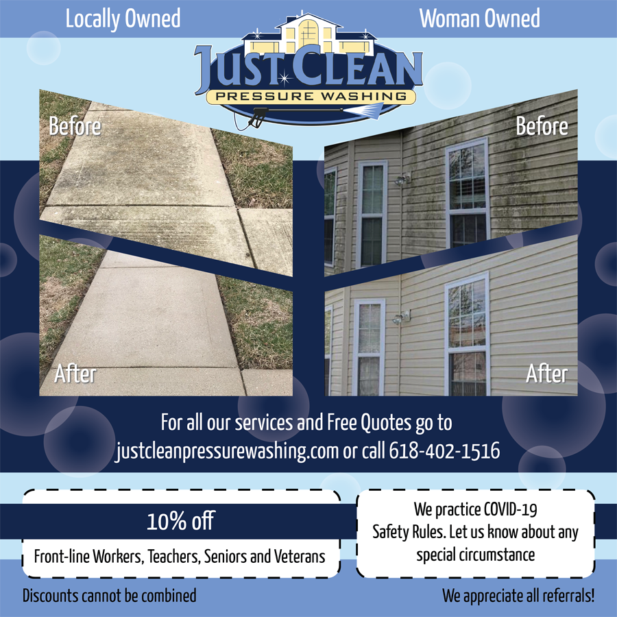 Spring 2021 Special Promotion from Just Clean Pressure Washing