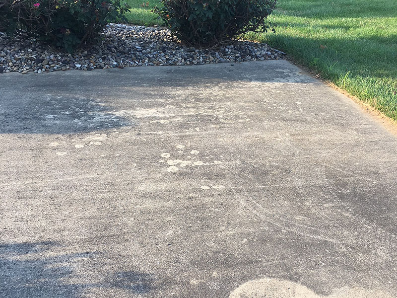 Just Clean Pressure Washing provides quality concrete patio cleaning